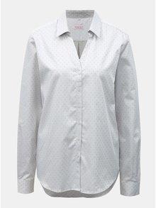 Svetlosivá dámska vzorovaná košeľa s rozhalenkou VAVI