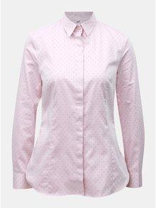 Svetloružová dámska vzorovaná košeľa VAVI
