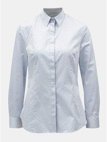 Svetlomodrá dámska košeľa s motívom krížikov VAVI