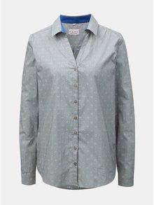 Sivá dámska kvetovaná košeľa s rozhalenkou VAVI