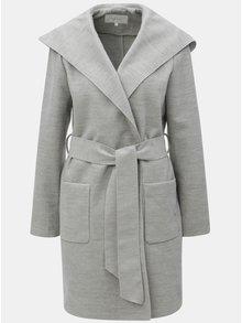 Sivý kabát s kapucňou VILA Apple