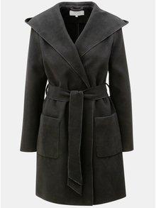 Čierny kabát s kapucňou VILA Apple
