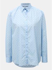 Svetlomodrá dámska voľná košeľa s bodkovaným vzorom VAVI