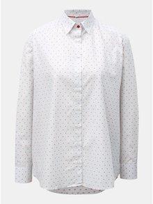 Svetlosivá dámska voľná košeľa s bodkovaným vzorom VAVI