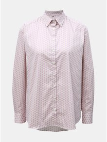 Krémovo-ružová bodkovaná voľná košeľa VAVI