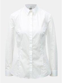 Biela dámska košeľa s drobným vzorom VAVI