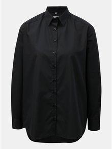 Čierna dámska voľná košeľa VAVI