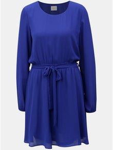 Modré šaty s opaskom VILA Lucy