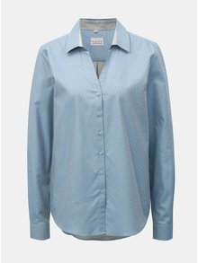Svetlomodrá dámska košeľa s drobným vzorom a rozhalenou VAVI