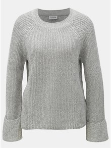Svetlosivý melírovaný sveter Noisy May