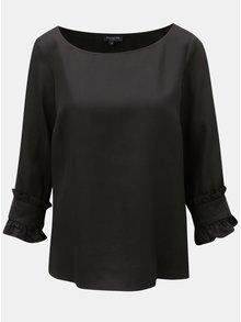 Čierna blúzka s 3/4 rukávom Selected Femme