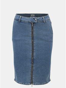 Modrá puzdrová rifľová sukňa so zipsom ONLY Tracii