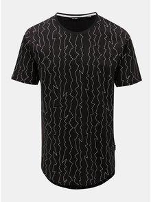 Čierne tričko s nepravidelnou potlačou ONLY & SONS