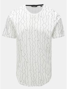 Tricou alb cu print neregulat ONLY & SONS