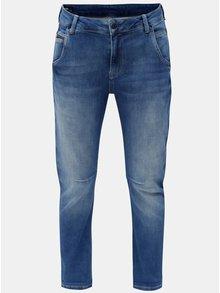 Blugi de dama albastri crop din denim Pepe Jeans