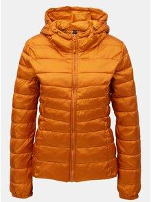 Oranžová prešívaná tenká bunda ONLY Tahoe