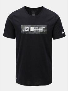 Čierne pánske funkčné tričko Nike Block Camo