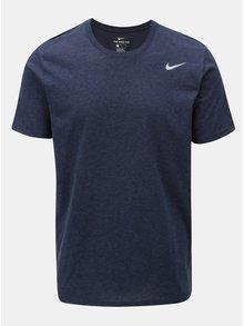 Tricou barbatesc albastru inchis functional Nike Block Camo