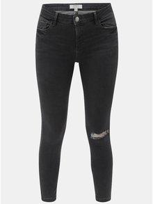 Šedé skinny džíny s potrhaným efektem Dorothy Perkins