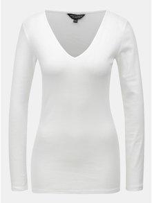 Bílé tričko s dlouhým rukávem Dorothy Perkins