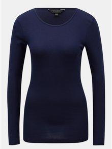 Modré tričko s dlouhým rukávem Dorothy Perkins