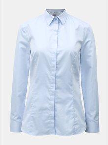 Svetlomodrá dámska košeľa so skrytou légou VAVI