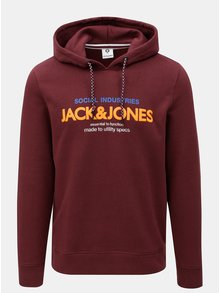 Hanorac visiniu cu print Jack & Jones Jacob