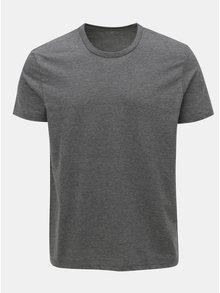Sivé regular fit melírované tričko s krátkym rukávom Burton Menswear London