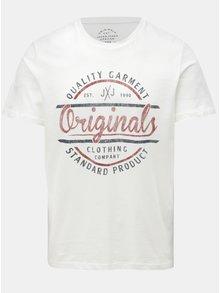 Biele tričko s potlačou Jack & Jones Vinnie