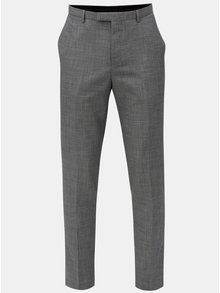 Sivé melírované oblekové nohavice Burton Menswear London