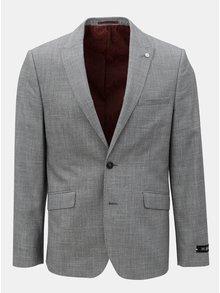 Sacou formal gri melanj Burton Menswear London