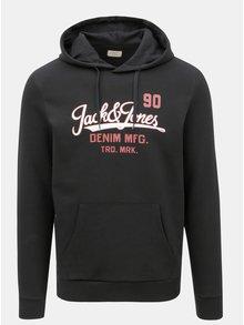 Čierna mikina s potlačou Jack & Jones Logo