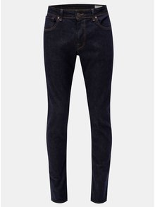 Blugi slim fit albastru inchis din denim Selected Homme
