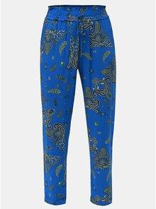 Modré vzorované nohavice Dorothy Perkins