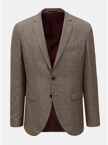 Sacou formal maro in carouri Selected Homme