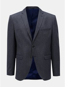 Tmavomodré oblekové sako Selected Homme
