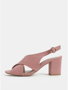 Ružové sandálky na podpätku Dorothy Perkins