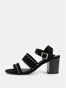 Čierne sandálky na podpätku Dorothy Perkins