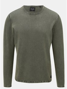 Kaki sveter s dlhým rukávom ONLY & SONS Garson