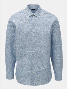Svetlomodrá vzorovaná košeľa s dlhým rukávom Selected Homme Regpen