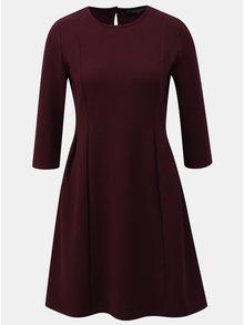 Fialové šaty s 3/4 rukávom Dorothy Perkins