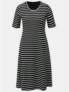 Bielo-čierne pruhované šaty s krátkym rukávom Dorothy Perkins Tall