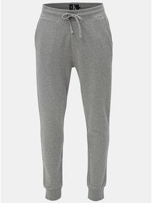 Sivé pánske tepláky Calvin Klein Jeans
