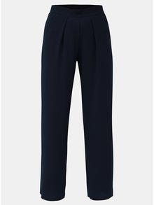 Tmavě modré volné kalhoty s vysokým pasem  Dorothy Perkins