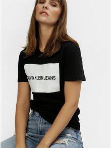 Čierne dámske tričko s potlačou Calvin Klein Jeans