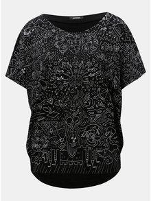 Černé oversize tričko s potiskem Mayda Pohádka