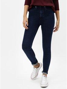 Modré dámské skinny džíny s vysokým pasem Calvin Klein Jeans