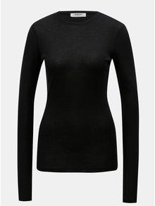 Čierne tričko s dlhým rukávom Moss Copenhagen