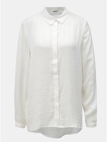 Biela voľna košeľa so skrytou légou Moss Copenhagen Blair