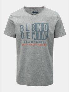 Sivé regular tričko s krátkym rukávom a potlačou Blend